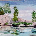 Pine Lake (Sold) En Plein Air