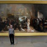 2018 Paris, France. Musée d'Orsay Courbet, The Painter's Studio