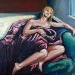 "Melancholia, oil on canvas, 18"" x 14"" 2019"