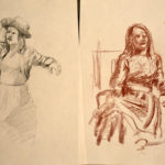 Life Drawing - vintage clothed -2019