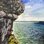 Climber at Lion's Head 60 cm x 47cm on linen (Private Collection)