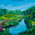 """!0th, near River Road, oil on canvas  16""""x20"""""""