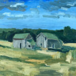 Two Barns. 55 SR, oil on canvas