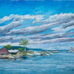 """Meaford Harbour, oil on canvas  16""""x20"""""""