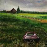 "Bygone Days -Franks Car 16' x 12"""